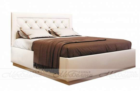 Кровать ВЕРСАЛЬ 1,6 ЛДСП белый/ шоколад