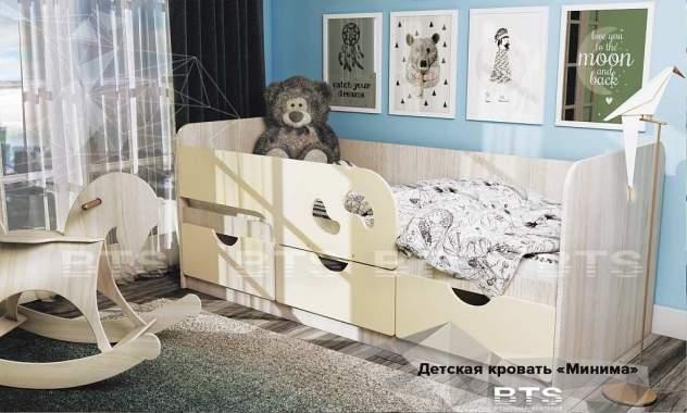 """Кровать детская """"Минима Лего"""" 1632х770х850 дуб атланта/крем-брюле"""