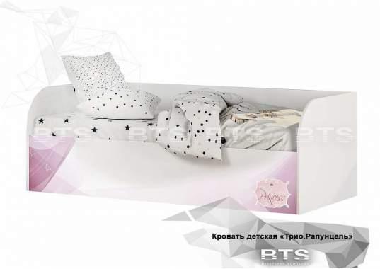 """Кровать детская """"Трио"""" КРП-01 1892х640х833 белый/рапунцель с подъёмным механизмом"""