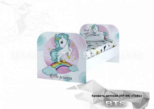 """Кровать детская с ящикам """"Тойс"""" КР-08 1832х800х900 белый/Little Pony"""
