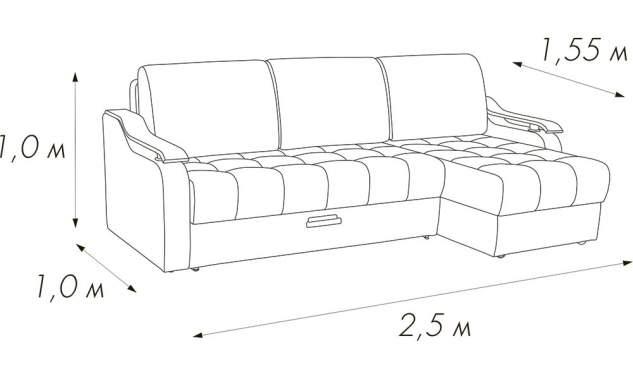 Угловой диван Камила 1 A