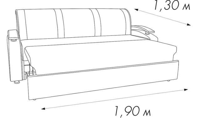 Диван прямой Карина ТТ/Дельфин 2.2 м