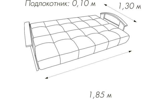 Диван прямой Люкс 2 2050х1000