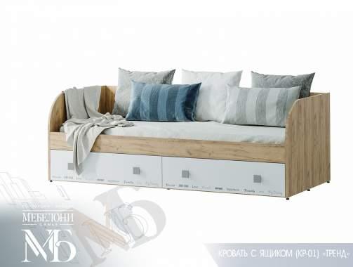 """Кровать """"Тренд"""" КР-01 с ящиками"""