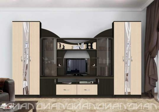 Стенка Аллегро вариант - 5 (3,4м) Дуб Белфорт/Венге Linum