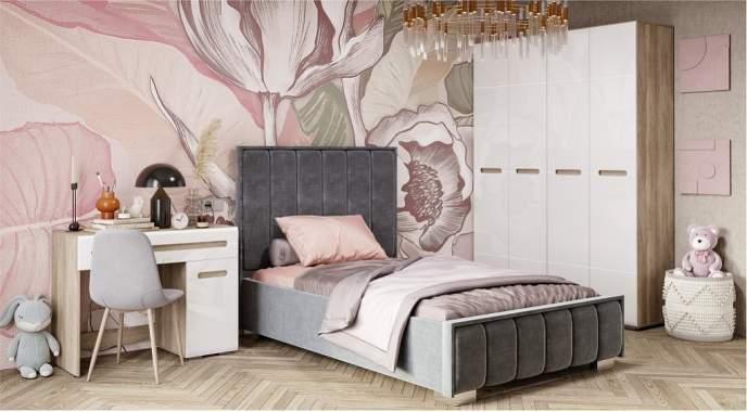 Кровать МИРАБЕЛЬ 1,2 графит (подъемный механизм)
