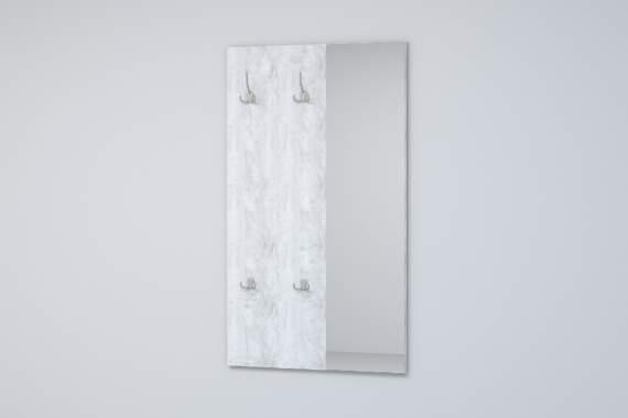 Вешалка с зеркалом ВЗ-1 ЭГО Бетон светлый